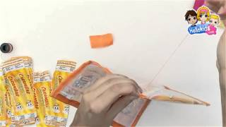 How to make FUNNY CARAMBAR pencil case - Kids Craft (Hellokids)