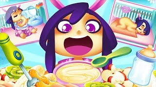 Baby Princess Sisters Care Fun Bath Time Dress Up & Feeding Game For Kids