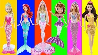 Disney Frozen Mermaid Elsa Anna Ariel and Sisters Mermaids Swimming Underwater, FULL Episodes | LEGO