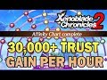 THE BEST Trust Gaining Strategy for Affinity Charts (30,000 Trust/Hr) - Xenoblade Chronicles 2