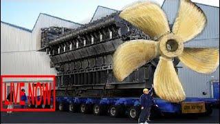 Big Biggest Mega Machines Diesel Engine Industrial, Hypnotic Video Latest  Propeller Manufactu #SON