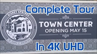 Disney Springs | Town Center | Complete Tour in 4K | Opening Day 2016