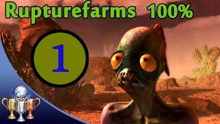 Oddworld New 'N' Tasty Speedrun Walkthrough (100%) - Chapter 1 RuptureFarms (All Mudokon & Secrets)
