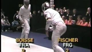 Olympics - 1984 Los Angeles - Fencing - Mems Team  Epee - FRA Philippe Boisse VS FGR Volker Fischer