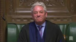 BREXIT - Furious Brexiteers raise questions about Speaker Bercow in angry parliamentary exchanges