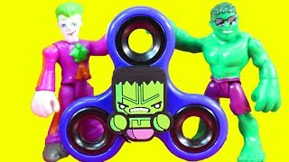 Imaginext Joker Gets Into Fight For Using Fidget Spinner And Replicates Hulk Smash At Playmobil Park