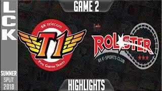 SKT vs KT Highlights Game 2 | LCK Summer 2018 Week 3 Day 1 | SK Telecom T1 vs KT Rolster G2