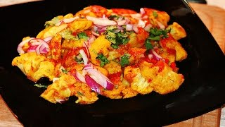 Hunan Cauliflower with Shrimp Flavor recipe / Chinese - Malaysian spicy hot