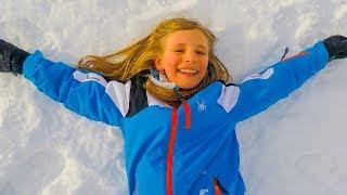 Amelia ski adventure through a magic closet. Ski trip to Tignes in the french alpes.