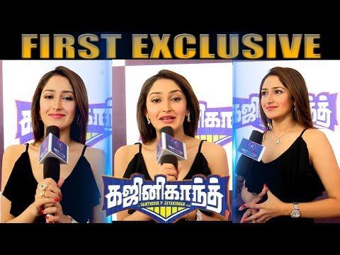Xxx Mp4 Quick Chat With Beautiful Actress Sayyeshaa Ghajinikanth Single Track Release Studio Green 3gp Sex