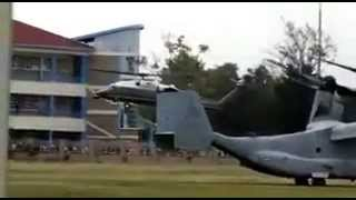 President Barack Obama's MARINE ONE landing at Kenyatta Univesity