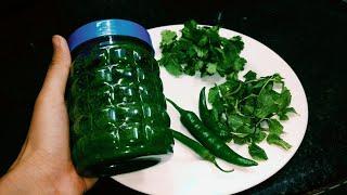 Pudine or Dhaniye ki  chutney 6 mahine store karein| garmi me uthae pura faeda