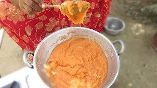 Village Food | Simple Semolina Sweet Recipe Prepared By Mummy