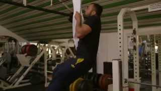 Ilias Iliadis in the adidas champion II workout