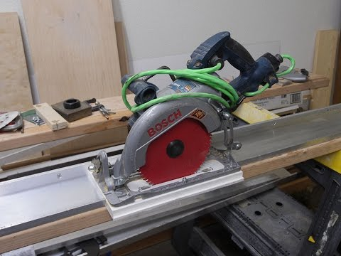 How to make Aluminum Guide Rail for your Circular Saw.