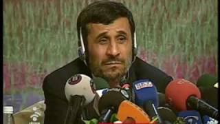 سوال خبرنگار بی بی سی فارسی از احمدی نژاد و اراجیف او