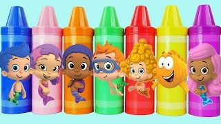 Bubble guppies toys inside giant crayons