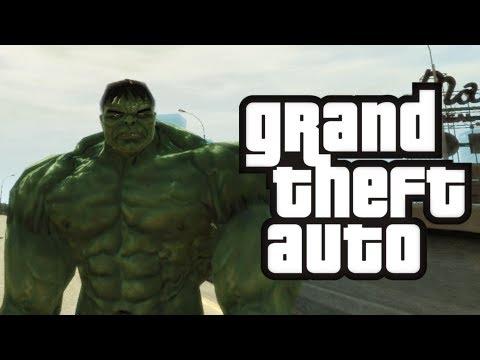 GTA 4 Hulk in GTA Hulk Mod Funny Moments