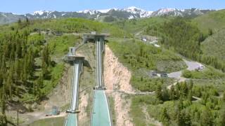 Drit bike does ski jump Thats one insane jump to do on a dirt bike