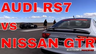 Audi RS7 vs Nissan GTR