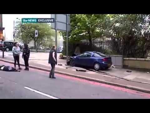 سر بریدن مردی با شعار الله اکبر در جنوب لندن