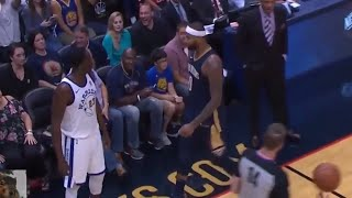 Draymond Green And DeMarcus Cousins Get Real Physical