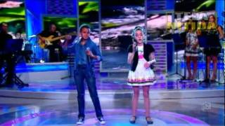 JOTTA A e MICHELY MANUELY - Aleluia  10-09-11  Jovens Talentos Kids - Raul Gil