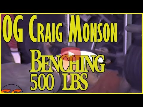Xxx Mp4 OG Craig Monson Bench Presses 500 Lbs With Wide Grip 9 Times In 1985 3gp Sex