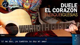 Como tocar Duele El Corazon ENRIQUE IGLESIAS en Guitarra | Tutorial COMPLETO Christianvib