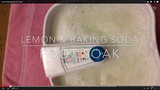 Lemon Baking Soda Foot Soak
