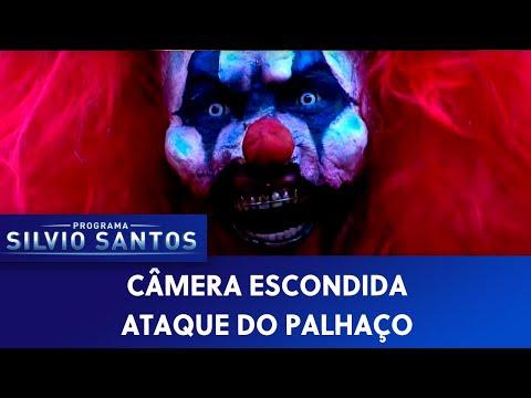 Câmera Escondida (30/10/16) - Ataque do Palhaço (Clown Attack Prank at Claw Machine)