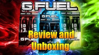 G Fuel Unboxing and Review (+ Promo Codes!)