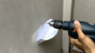 How to collect falling dust while drilling a hole