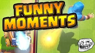 AMAZINGLY Funny Moments, Fails and Glitches Compilation --- Clash Royale Troll Montage! - Hilarious!