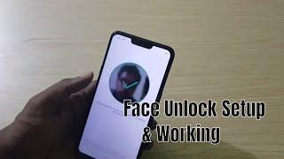 Realme C1 Face Unlock Setup & Working