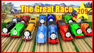 THOMAS AND FRIENDS The Great Race #209 TRACKMASTER SHOOTING STAR GORDON Thomas & Friends Toys