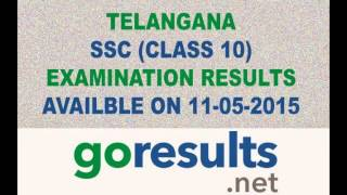 Telangana SSC/10th Class Result 2015 - GoResults.Net