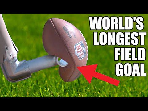 World s Longest Field Goal Robot vs NFL Kicker