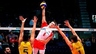 Kurek |Polish volley player |120K killer spike | POL vs BRA World Championship 2018 Finals