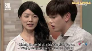 (Vietsub) 160416 SNL Korea 7 ep 8 - Eric Nam và nụ hôn của bà thím
