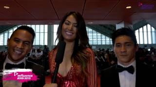 Fajar, Maria Selena, Hendri Take [Indonesia] - Red Carpet (Influence Asia 2015)