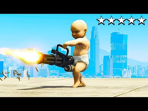 PLAYING GTA 5 AS A NEW BORN BABY GTA 5 Mods
