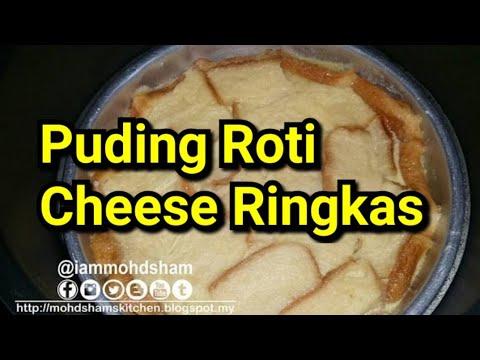 Puding Roti Cheese Ringkas (Kukus dgn Noxxa)