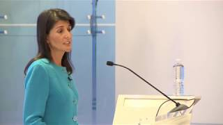 UN Ambassador Nikki Haley  Considerations on US policy towards Iran