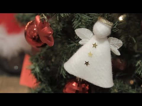 How to make an angel to decorate your Christmas tree Christmas crafts for the whole family