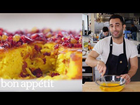 Andy Makes the Crispiest Saffron Rice Cake From the Test Kitchen Bon Appétit
