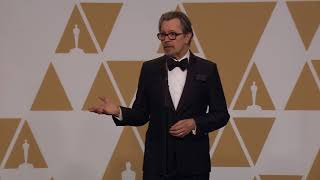 Gary Oldman - Full Backstage Interview - Best Actor - Oscars 2018