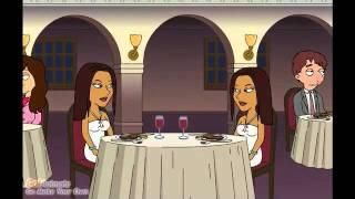 Futanari clones on a date