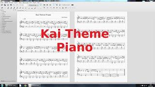 Kai Theme + Partition Piano ~ Kung Fu Panda ♪ Inédit