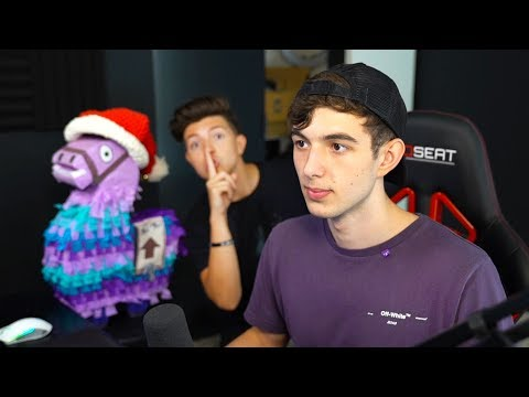I snuck into LANDON's House and GIFTED YouTubers He had 1 million vbucks